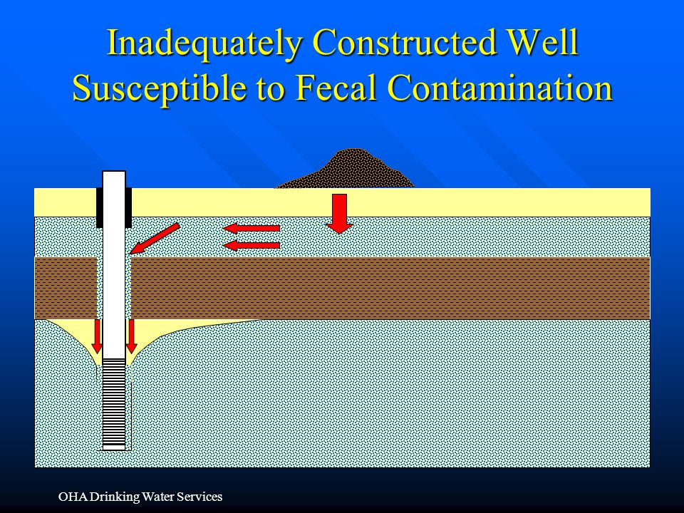 OHA Drinking Water Services Inadequately Constructed Well Susceptible to Fecal Contamination