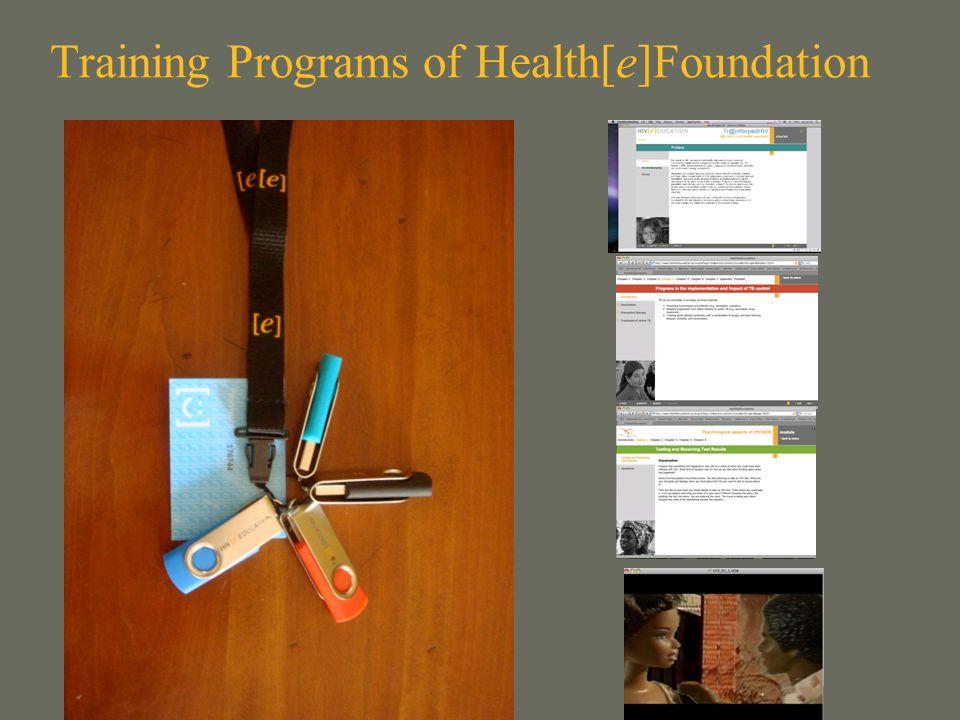 Training Programs of Health[e]Foundation