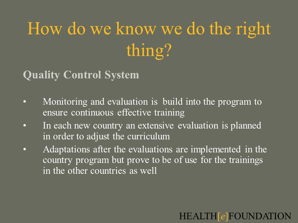 How do we know we do the right thing.
