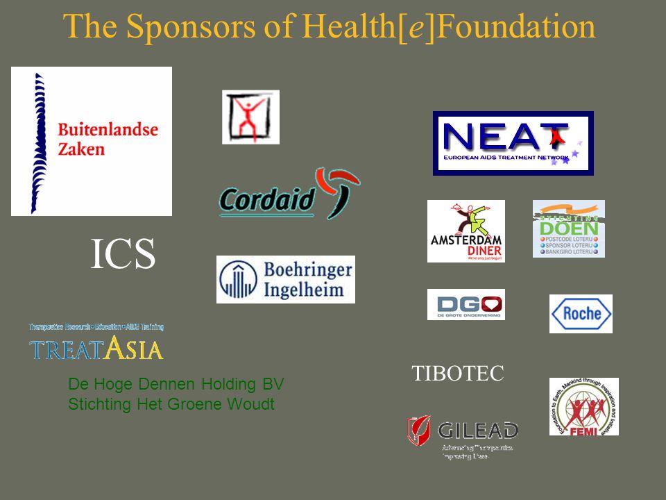 De Hoge Dennen Holding BV Stichting Het Groene Woudt ICS TIBOTEC The Sponsors of Health[e]Foundation