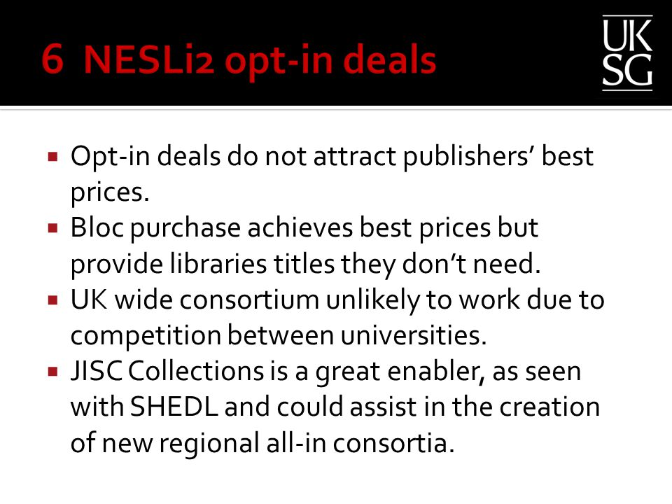  Opt-in deals do not attract publishers' best prices.