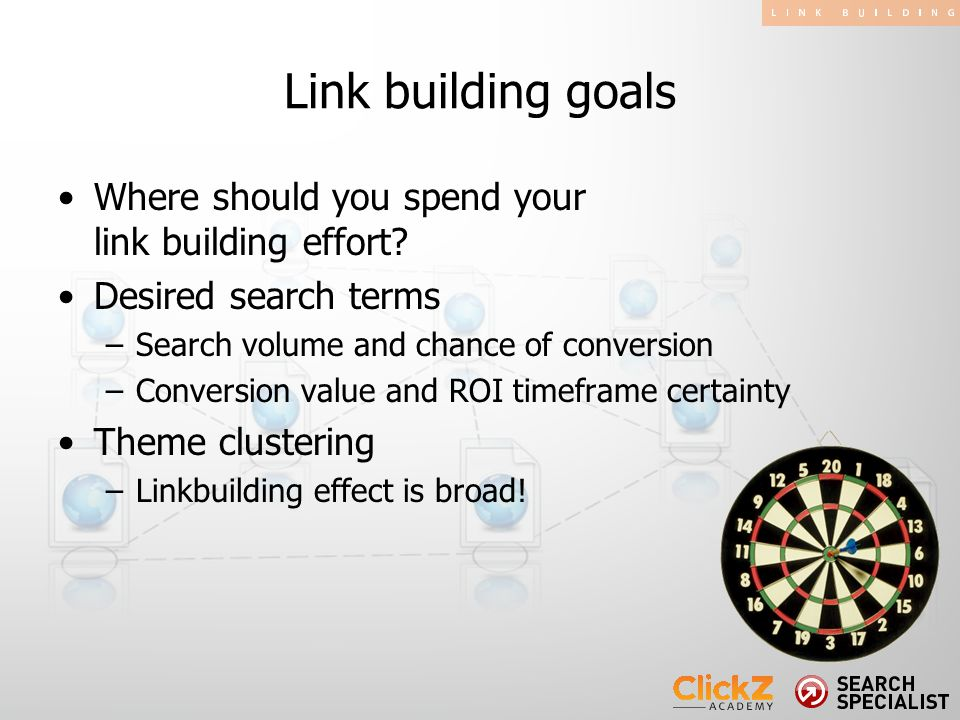 Where should you spend your link building effort.