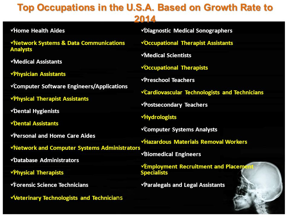 Top Occupations in the U.S.A.