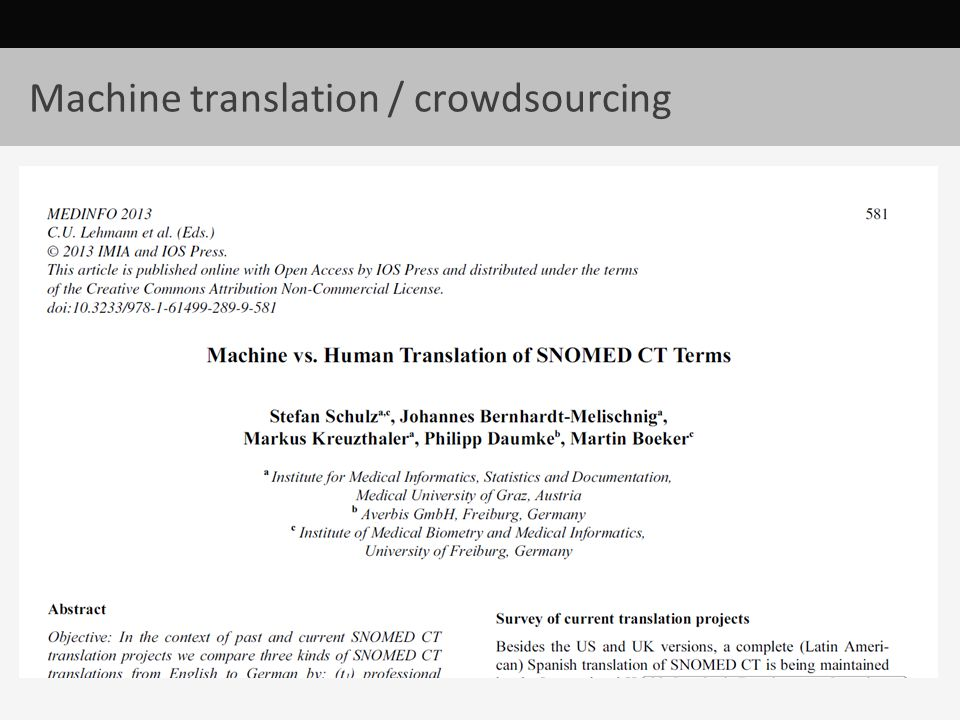 Machine translation / crowdsourcing