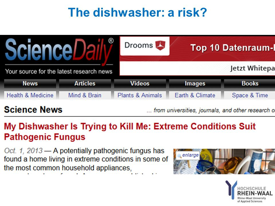 The dishwasher: a risk