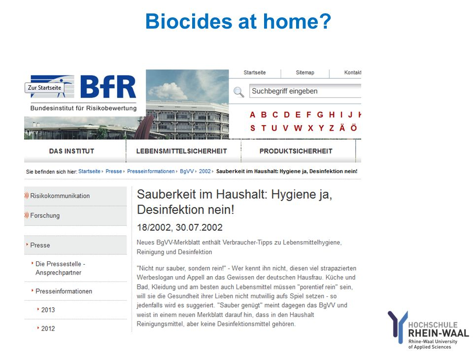 Biocides at home