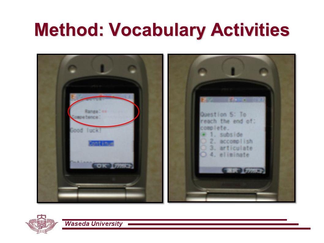 Waseda University Method: Vocabulary Activities