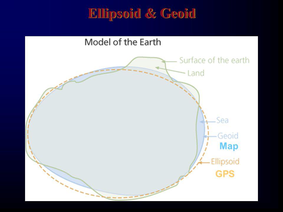 Ellipsoid & Geoid GPS Map