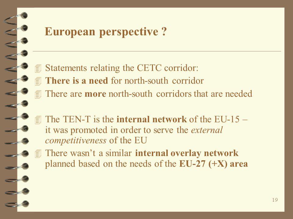 19 European perspective .