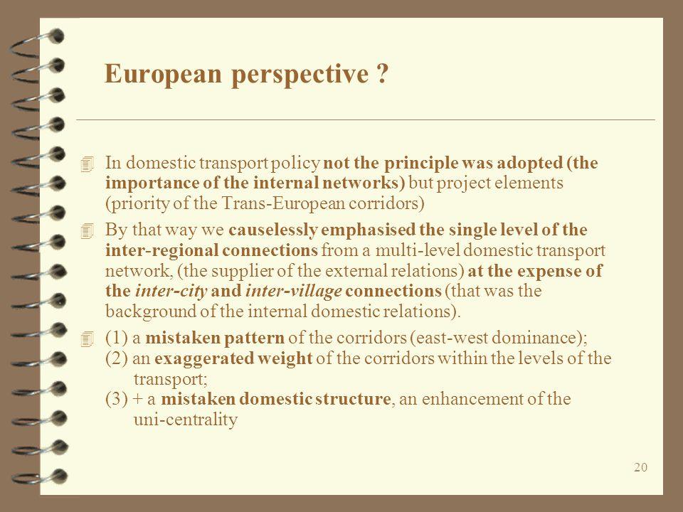 20 European perspective .