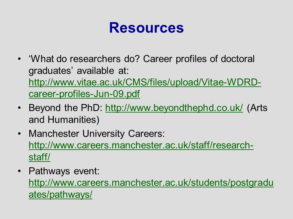 Resources 'What do researchers do.