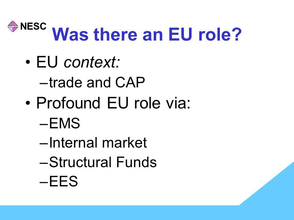 NESC Was there an EU role.