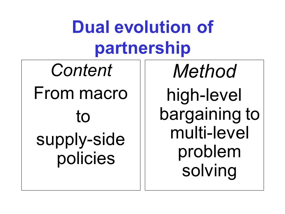 NESC Dimensions of partnership Bargaining and deal making.