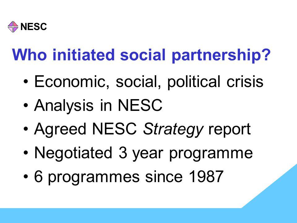 NESC Who initiated social partnership.
