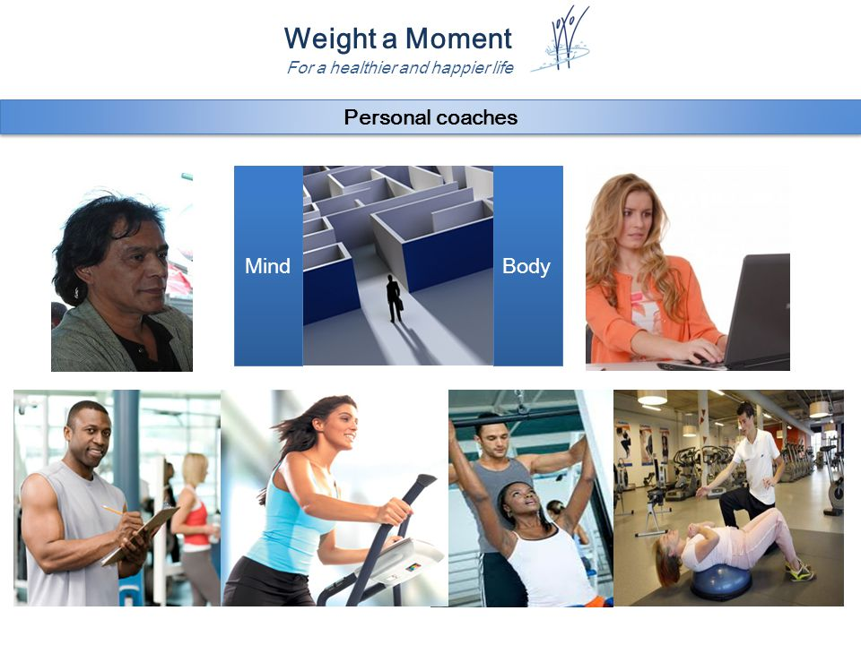 Weight a Moment For a healthier and happier life BodyMind Personal coaches