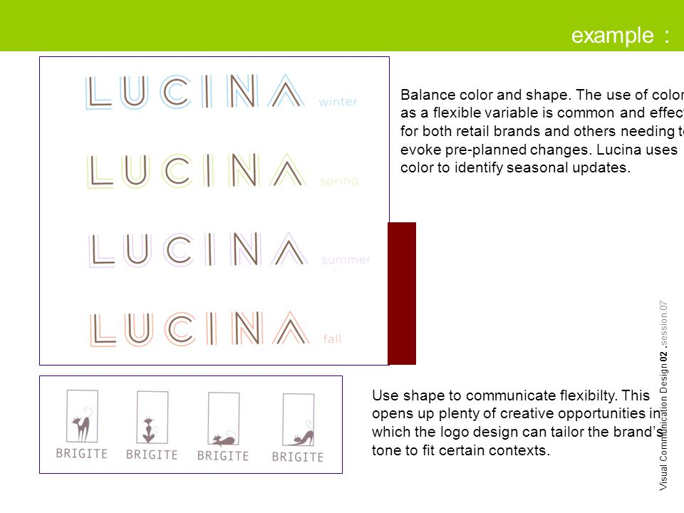 example : Visual Communication Design 02.session.07 Balance color and shape.