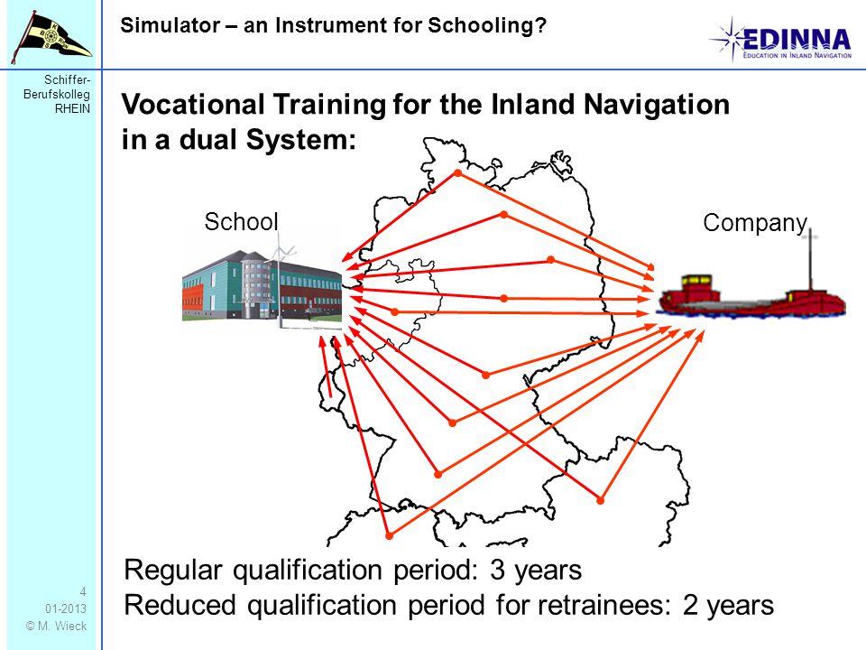Schiffer- Berufskolleg RHEIN 01-2013 © M. Wieck Simulator – an Instrument for Schooling.