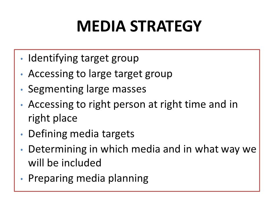 Out of Home Media: To access to large audience with different creative works Visual Media: To create synergy- Visual and print media are used to support outdoor as a main medium.