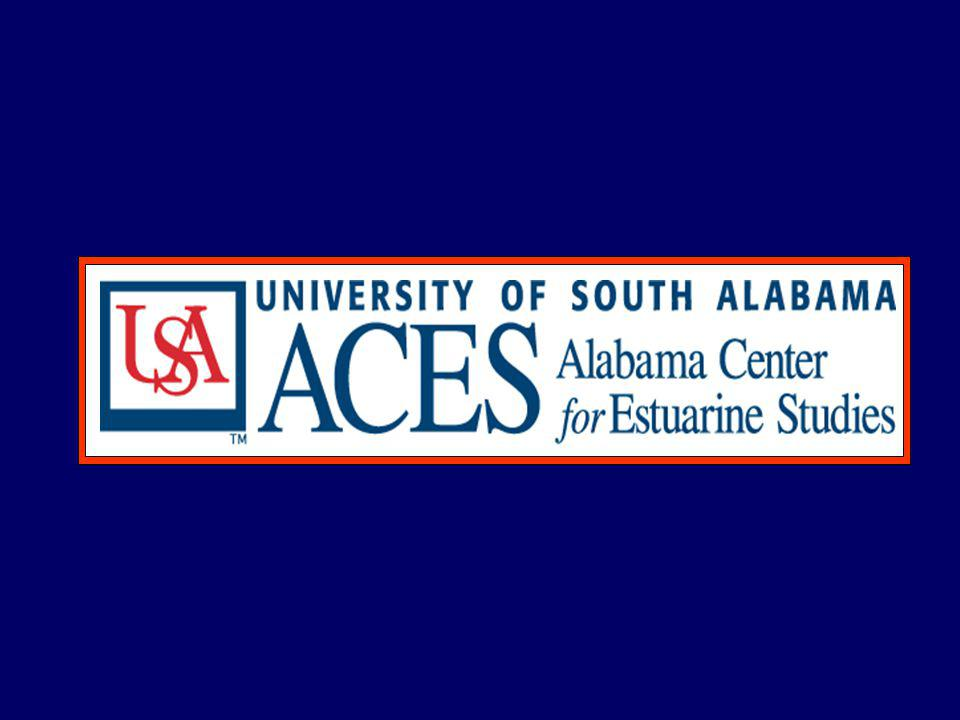 ACES collaborators also include investigators from UAB, Auburn, Clemson, LSU and the University of Nebraska ACES has supported and is currently supporting many MS and PhD students (e.g., 3-PhD & 9 MS students in Marine Science at USA), as well as several post- doctoral scholars Accomplishments continued