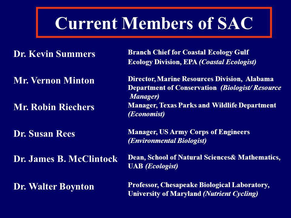 Current Members of SAC con't Dr.Loren D. Coen Mr.