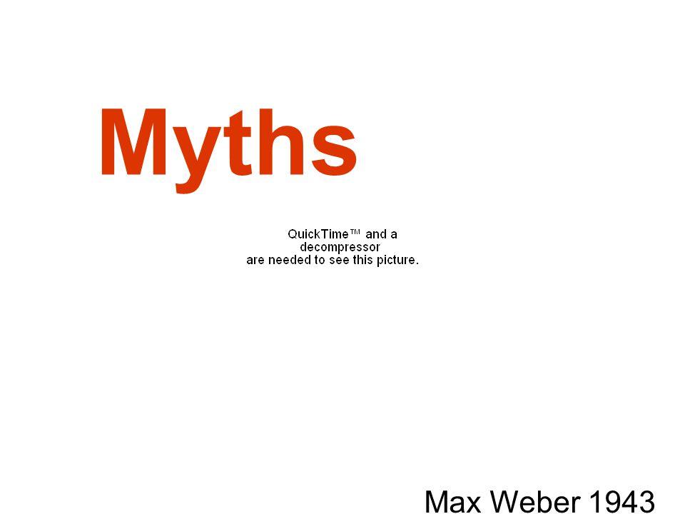 Myths Max Weber 1943