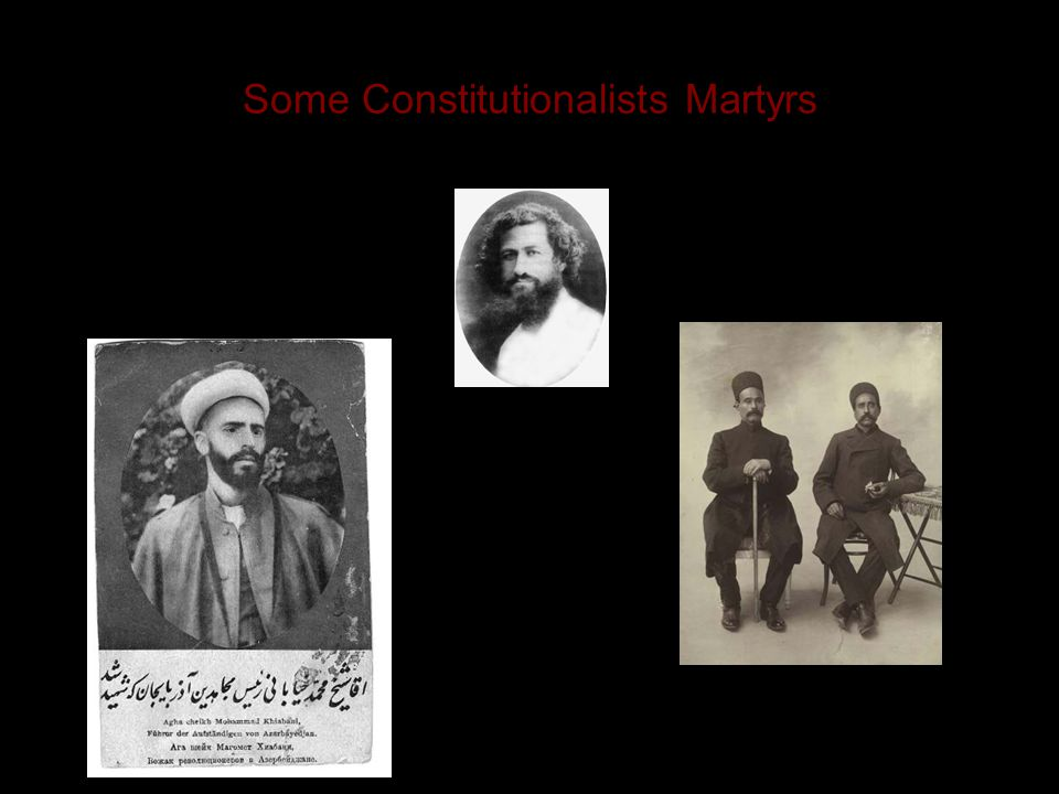 But the shah died in January 1907, and his son Muhammad Ali Shah was a Russophile and despot who opposed the Constitutional Revolution. His Cossack br
