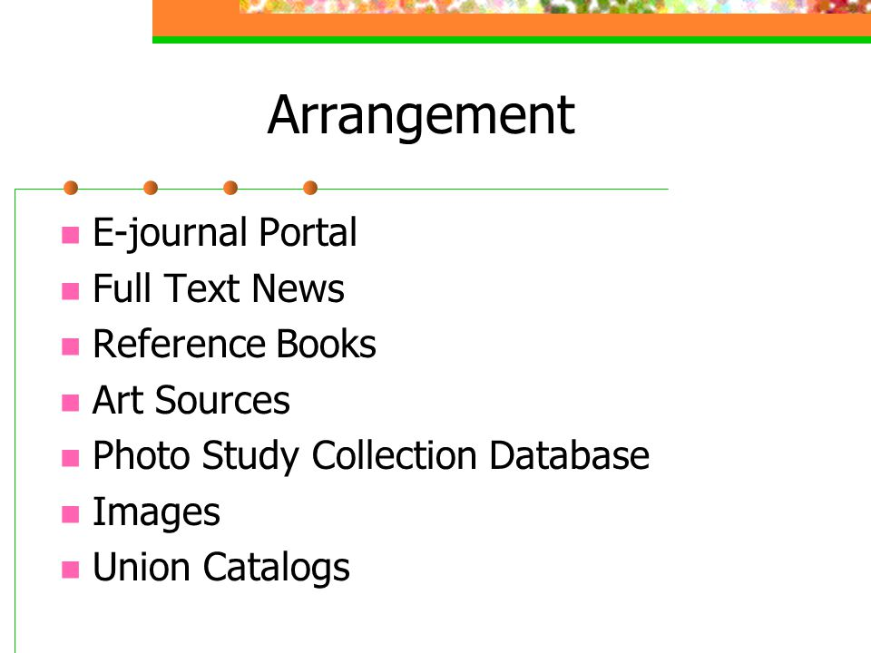 Handout 1: Selected Online Resources Three pages Icons for full text, images, citations, union catalog Highlights of each product