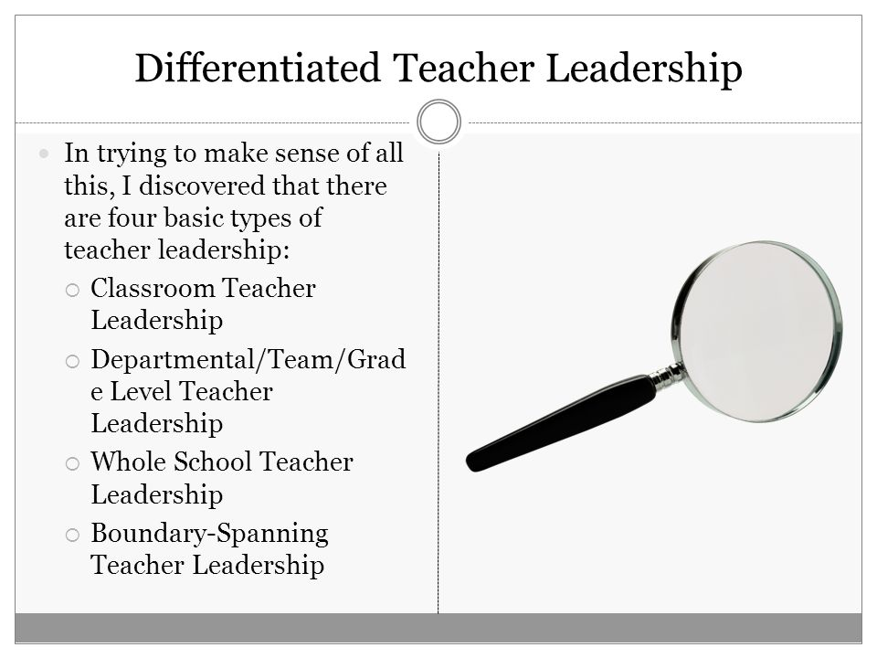 What does teacher leadership look like in your school.