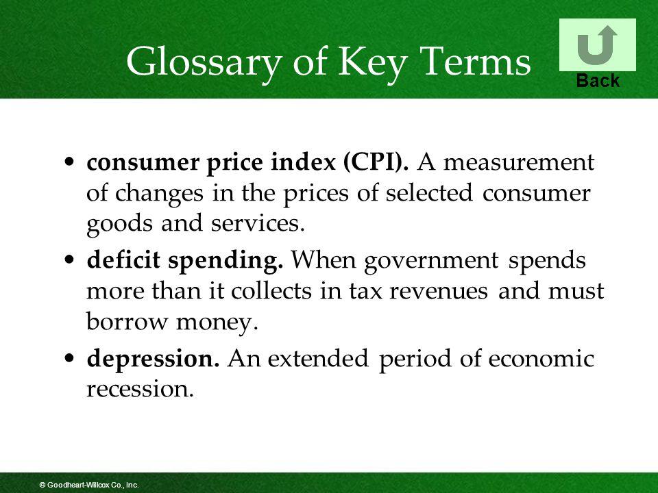 © Goodheart-Willcox Co., Inc.Glossary of Key Terms consumer price index (CPI).