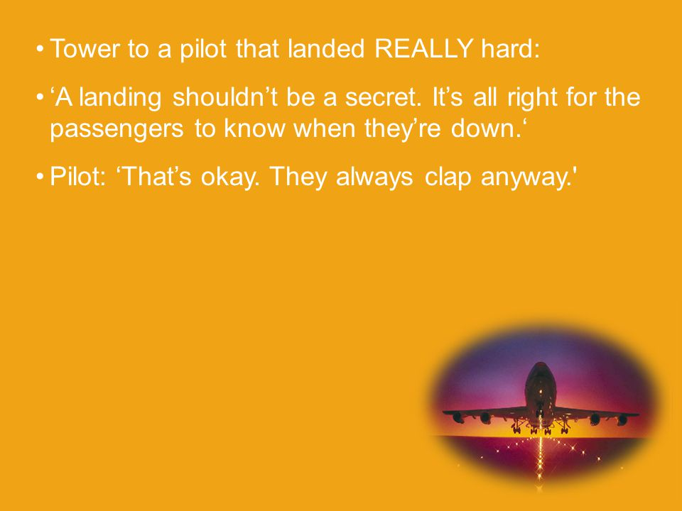 Tower to a pilot that landed REALLY hard: 'A landing shouldn't be a secret.