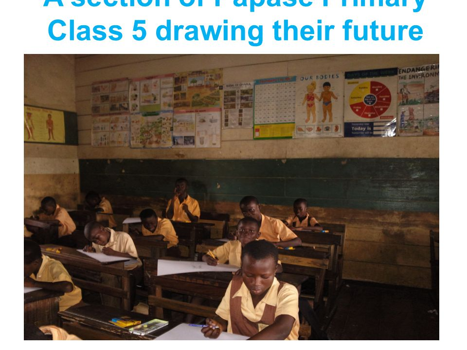 A section of Papase Primary Class 5 drawing their future family