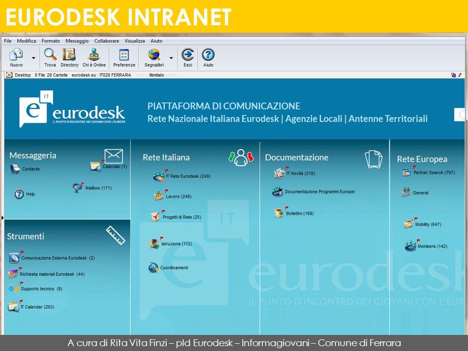 EURODESK INTRANET A cura di Rita Vita Finzi – pld Eurodesk – Informagiovani – Comune di Ferrara