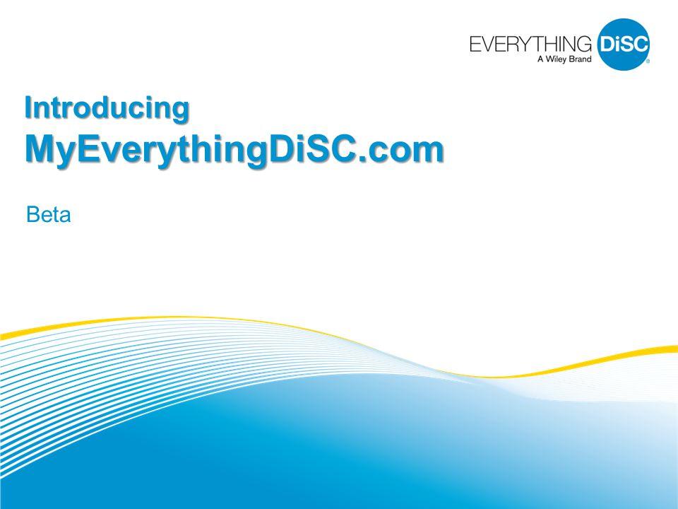 Introducing MyEverythingDiSC.com Beta