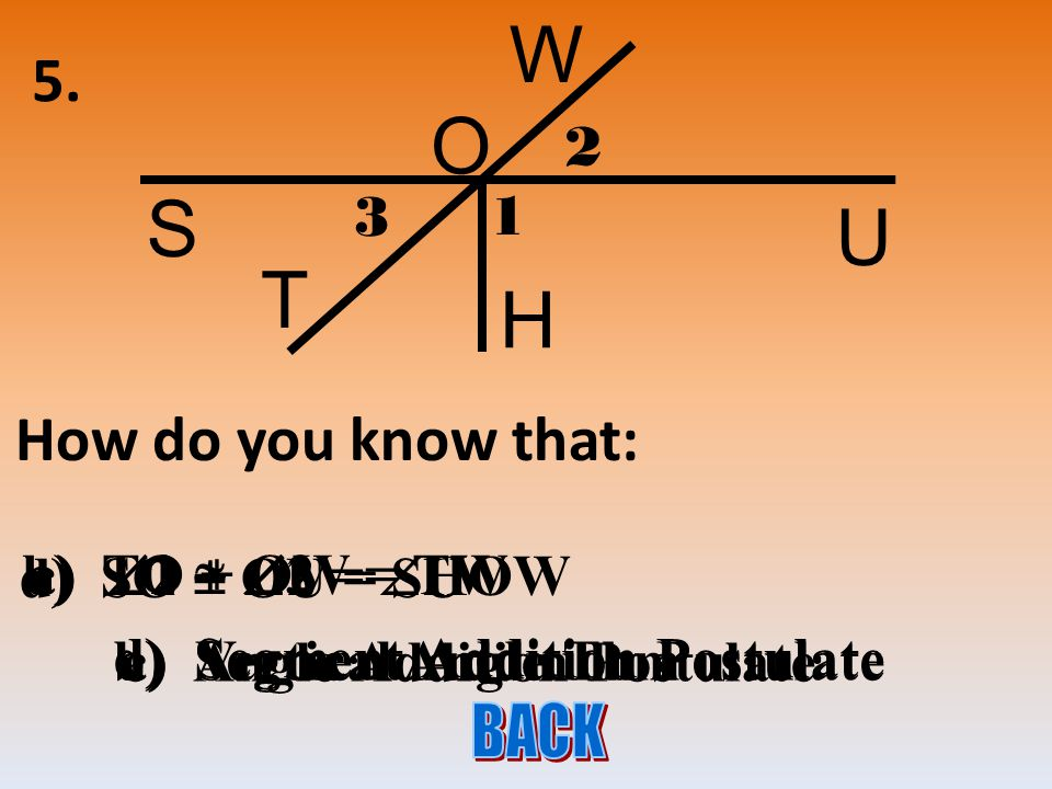 4. Write an equation and solve for x. 5x + 4 L O V 7x – 14 5x + 4 = 7x – 14 18 = 2x 9 = x