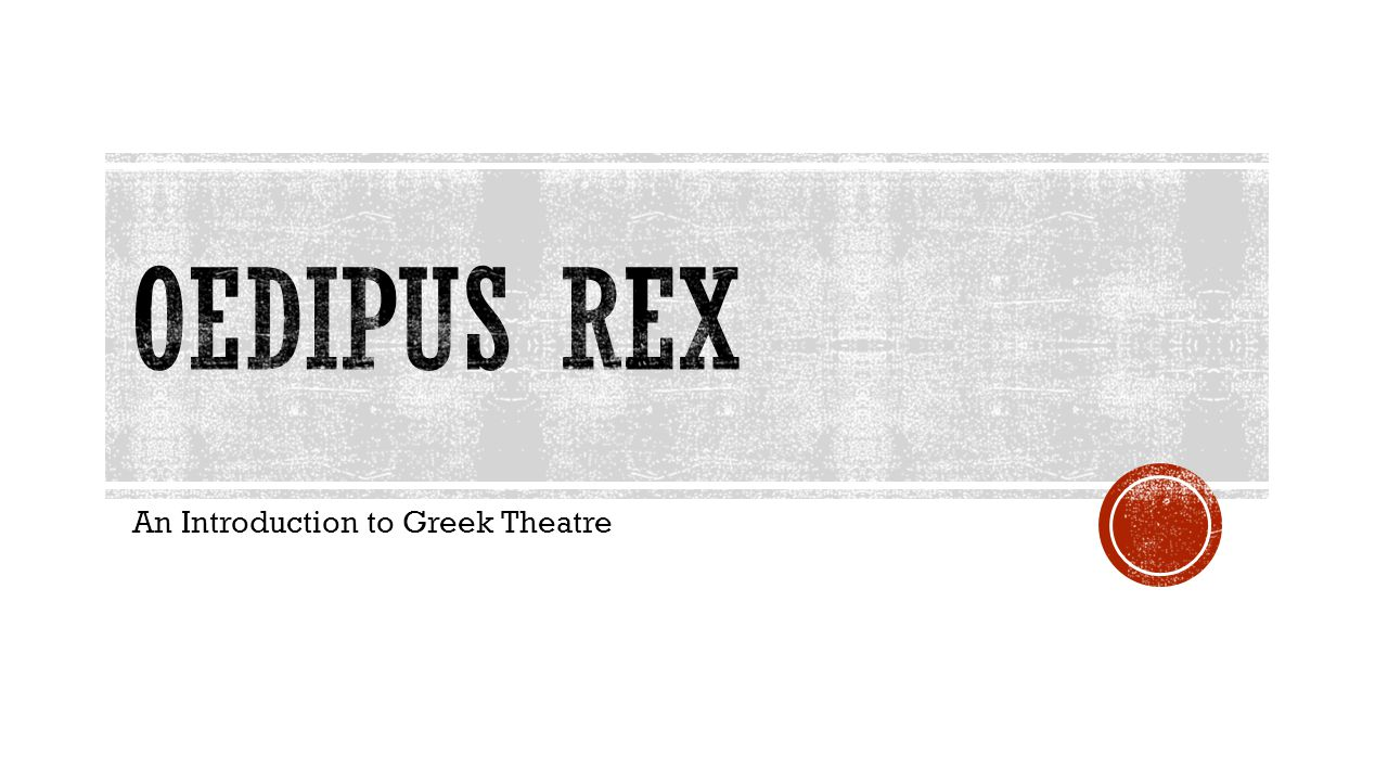 An Introduction to Greek Theatre