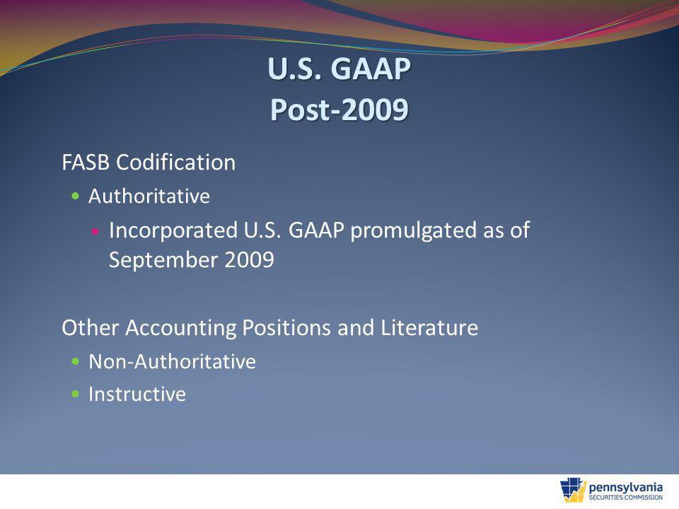 U.S.GAAP Some Science and Art Qualitative Characteristics of U.S.