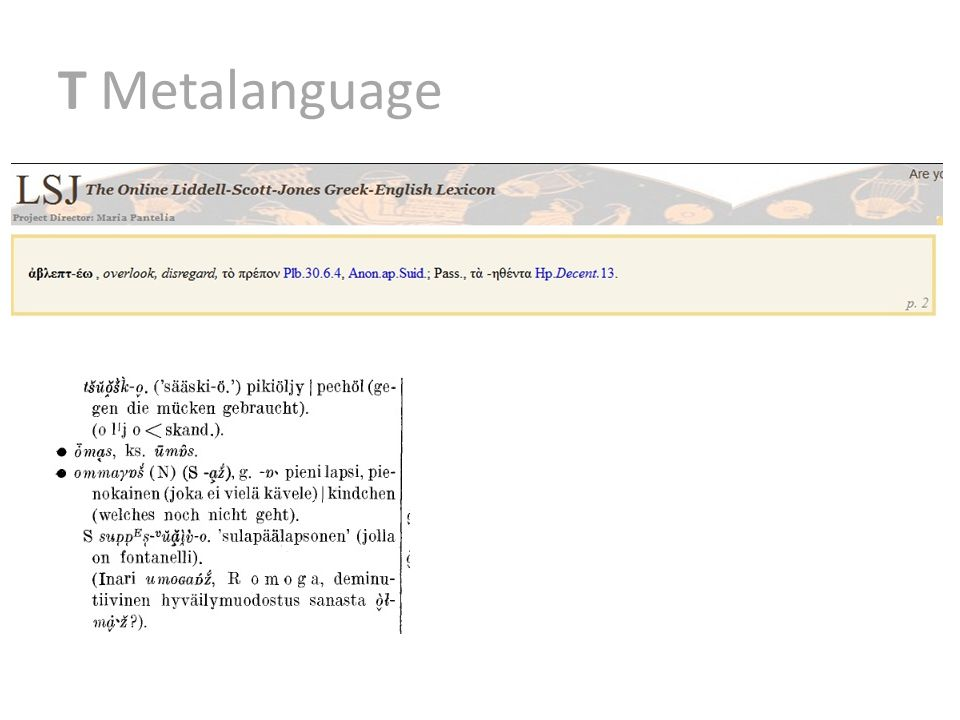 T Metalanguage