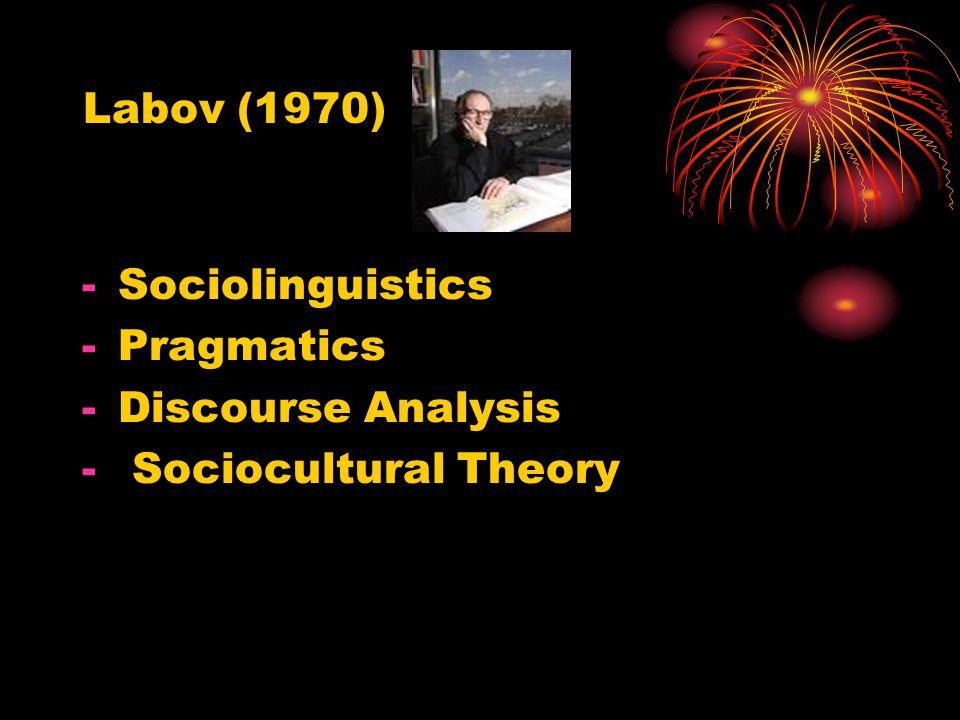 Saussure (1966) Language Langue competence Parole performance