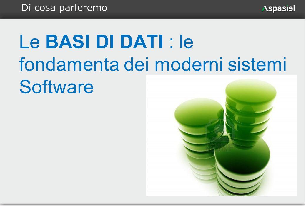 2 Le BASI DI DATI : le fondamenta dei moderni sistemi Software Di cosa parleremo