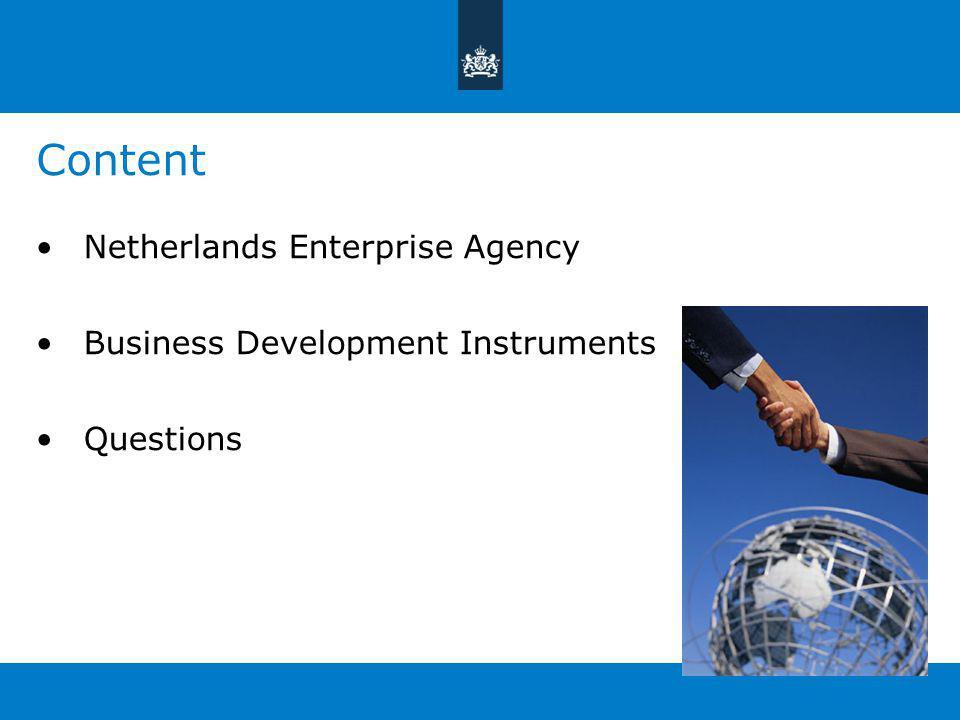 Content Netherlands Enterprise Agency Business Development Instruments Questions
