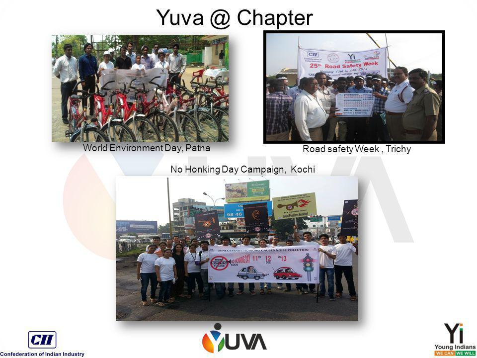 World Environment Day, Patna Road safety Week, Trichy No Honking Day Campaign, Kochi Yuva @ Chapter