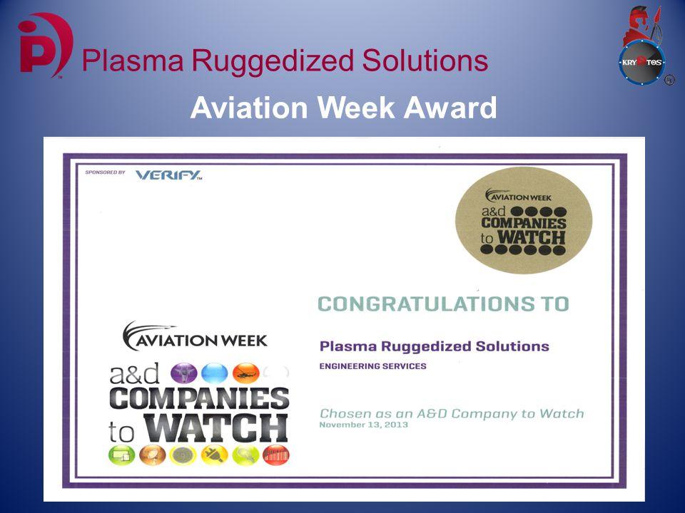Aviation Week Award Plasma Ruggedized Solutions