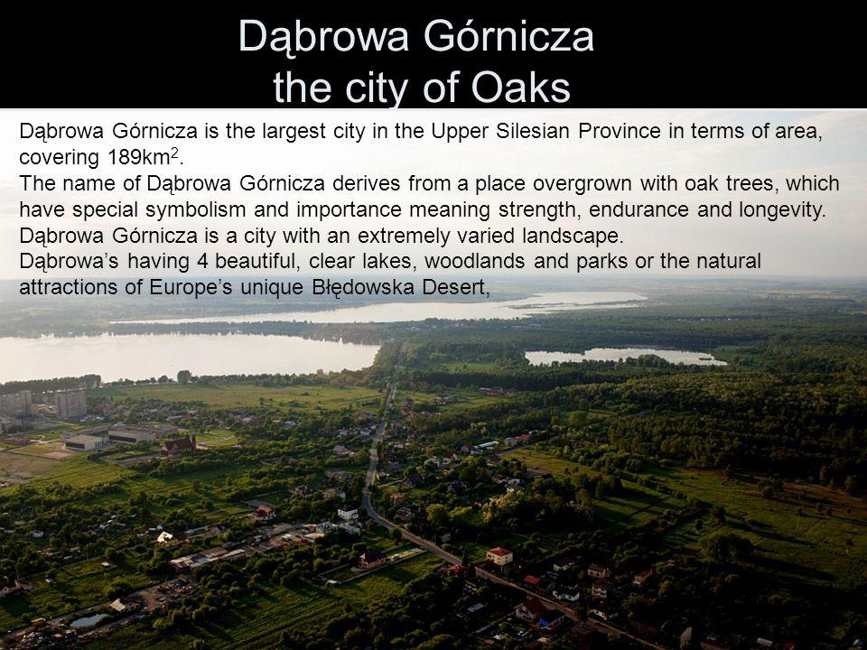 Dąbrowa Górnicza the city of Oaks Dąbrowa Górnicza is the largest city in the Upper Silesian Province in terms of area, covering 189km 2.