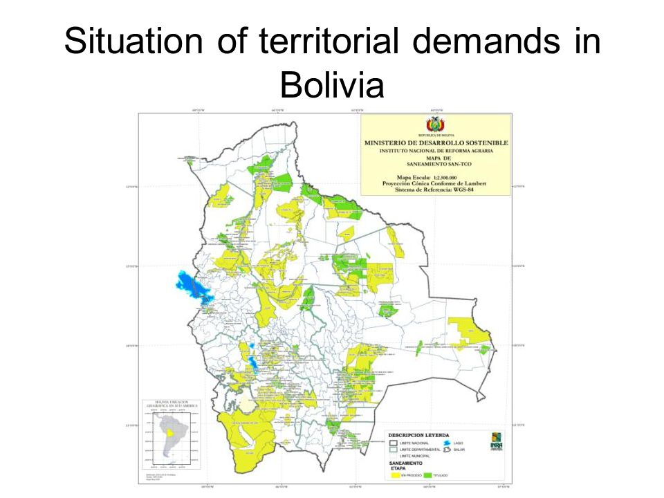 Situation of territorial demands in Bolivia