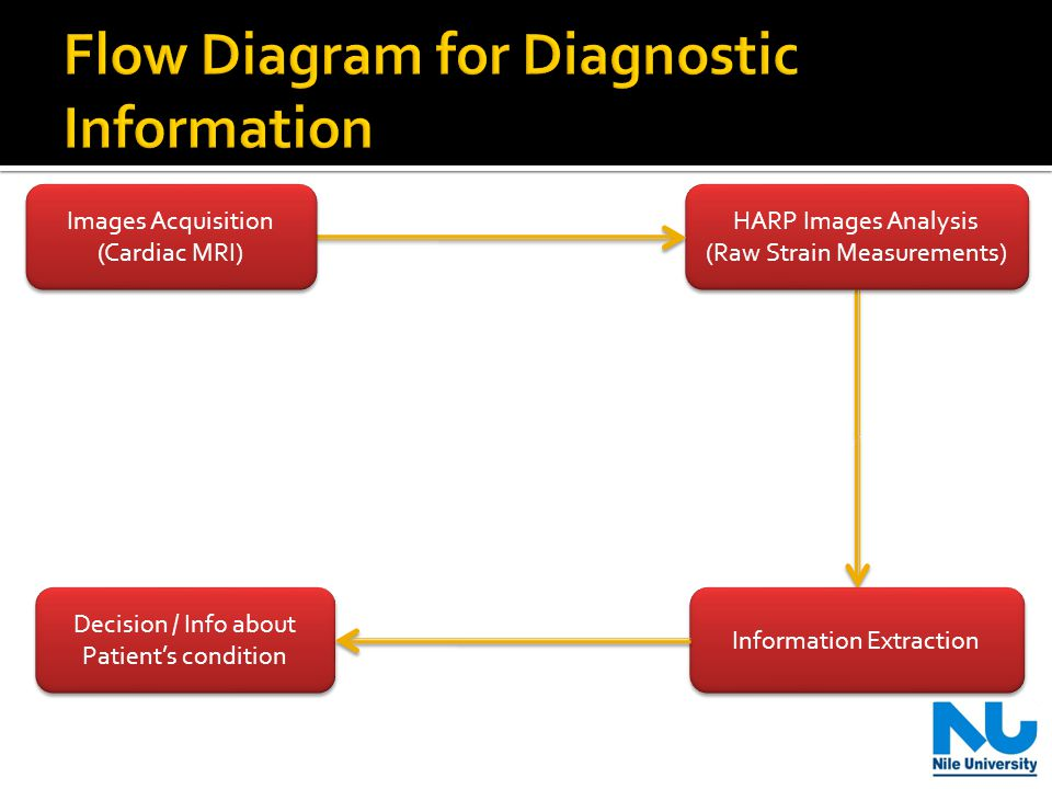 HARP Images Analysis (Raw Strain Measurements) HARP Images Analysis (Raw Strain Measurements) Information Extraction Decision / Info about Patient's condition Images Acquisition (Cardiac MRI) Images Acquisition (Cardiac MRI)
