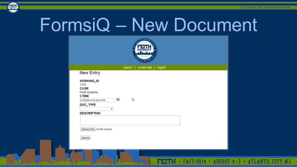 FormsiQ – New Document