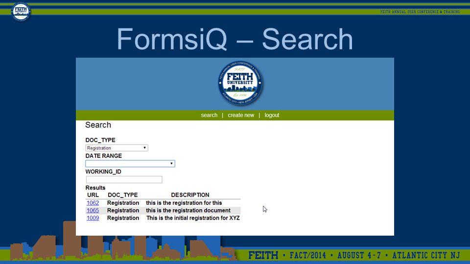 FormsiQ – Search