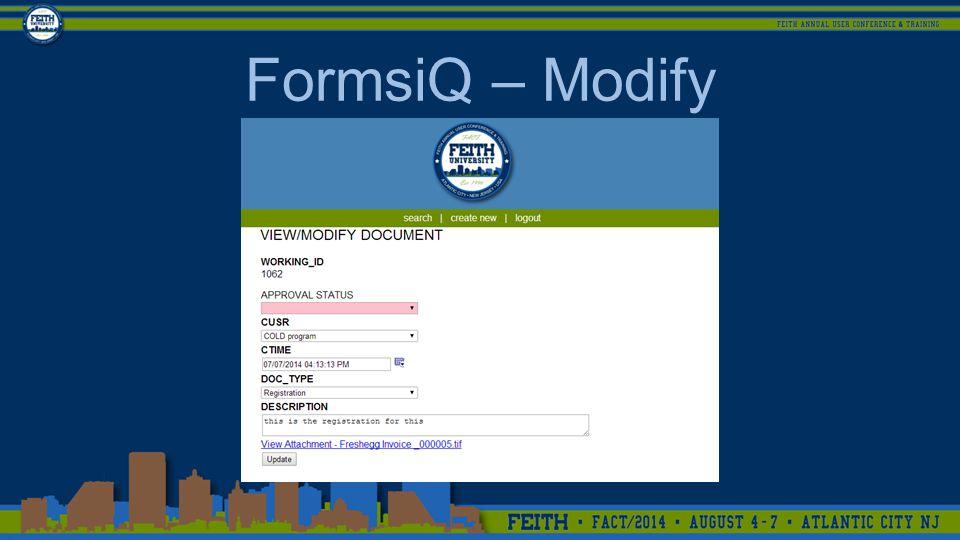 FormsiQ – Modify