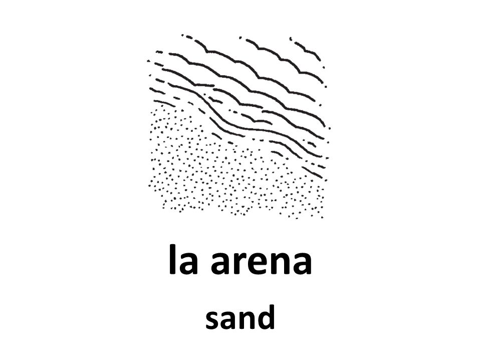la arena sand