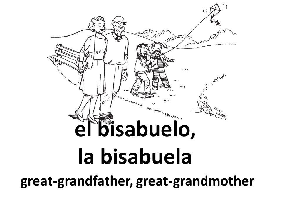 el bisabuelo, la bisabuela great-grandfather, great-grandmother